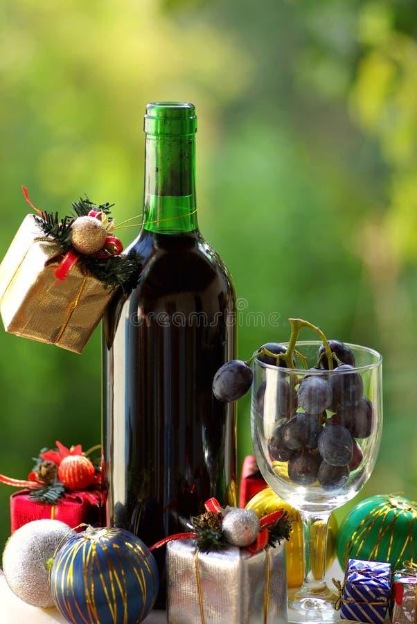 Noël de vin rouge photographie stock libre de droits