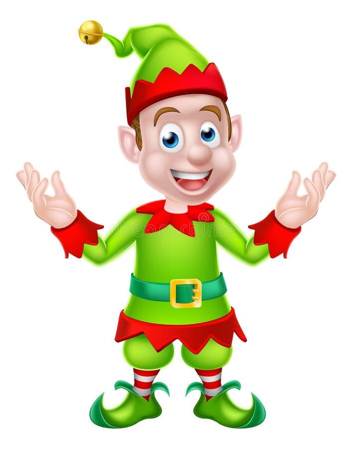 Noël Elf de bande dessinée illustration stock