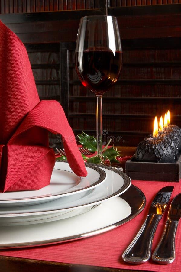 Noël en rouge et le noir image libre de droits