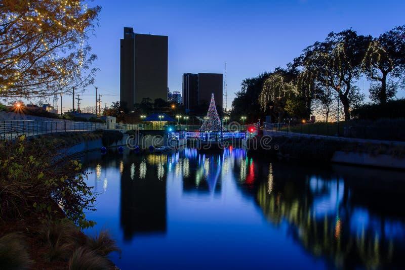 Noël en San Antonio Texas images stock