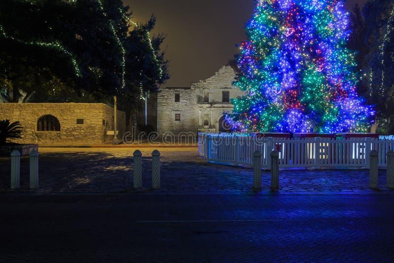 Noël en San Antonio Texas photo libre de droits