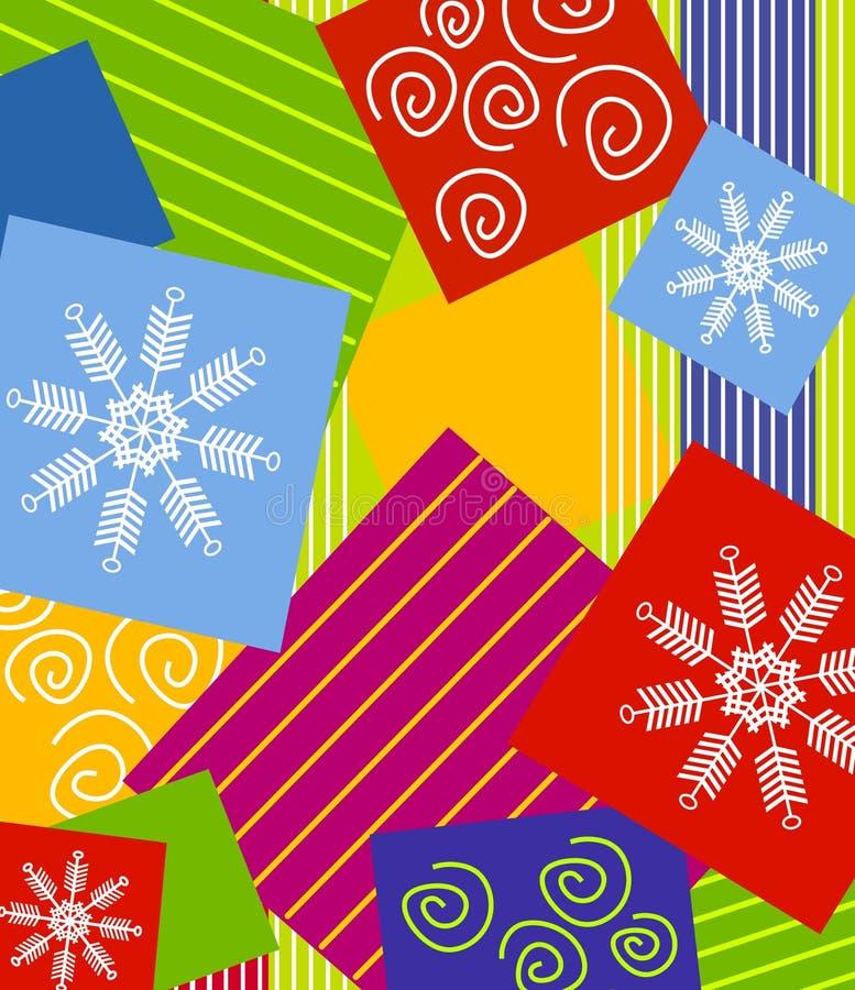 Noël enveloppant le fond illustration libre de droits