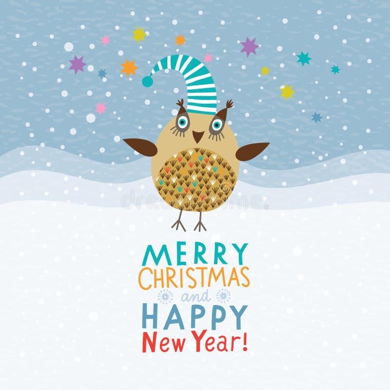 Noël et années neuves de carte illustration stock
