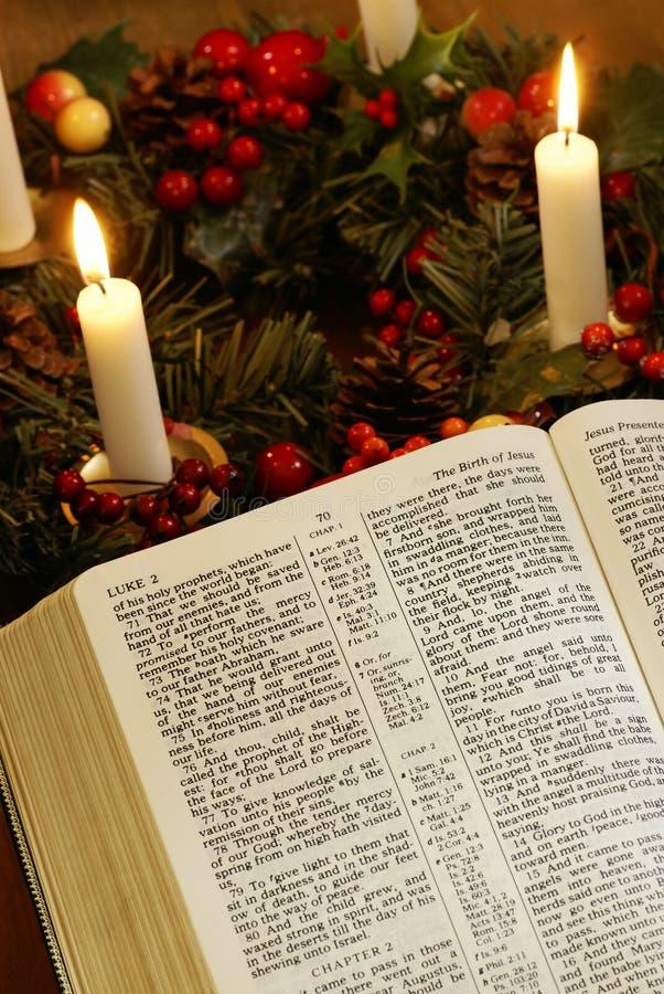 Noël et bible photos stock