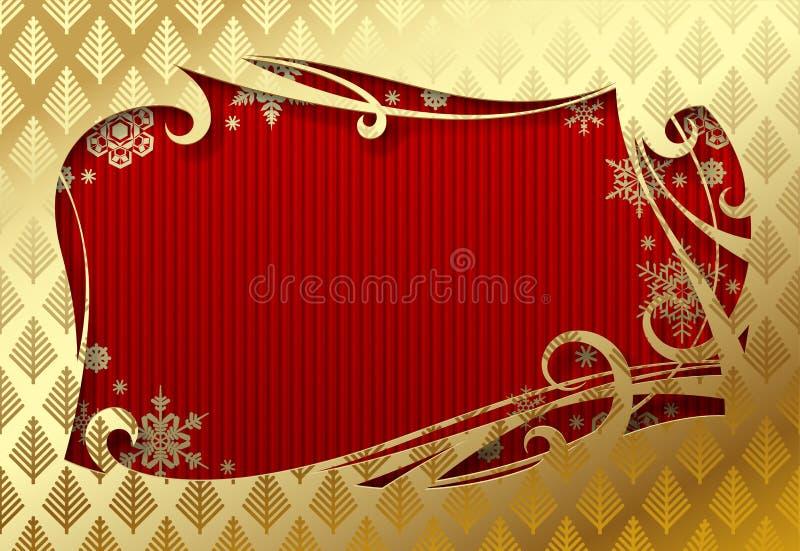 Noël et carte de voeux Nouveau an illustration stock