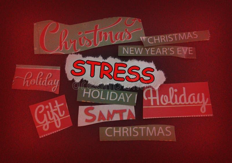 Noël et effort image libre de droits