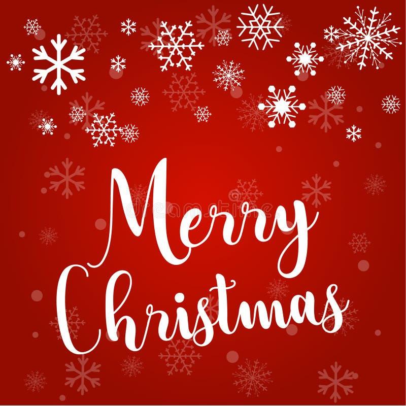 Noël et les flocons de neige, lumière, se tient le premier rôle Carte de Noël Illustration de vecteur illustration de vecteur