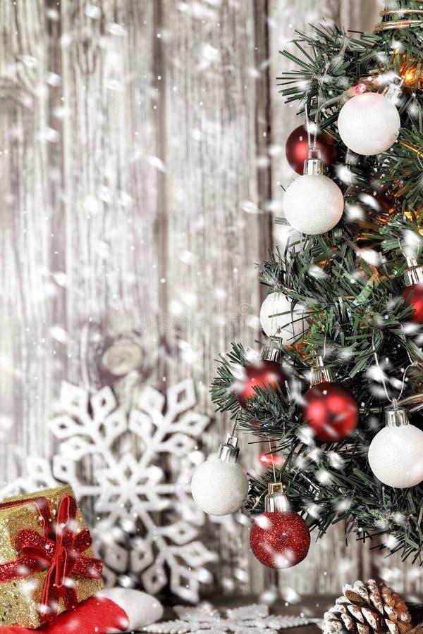 Noël et neige photographie stock libre de droits