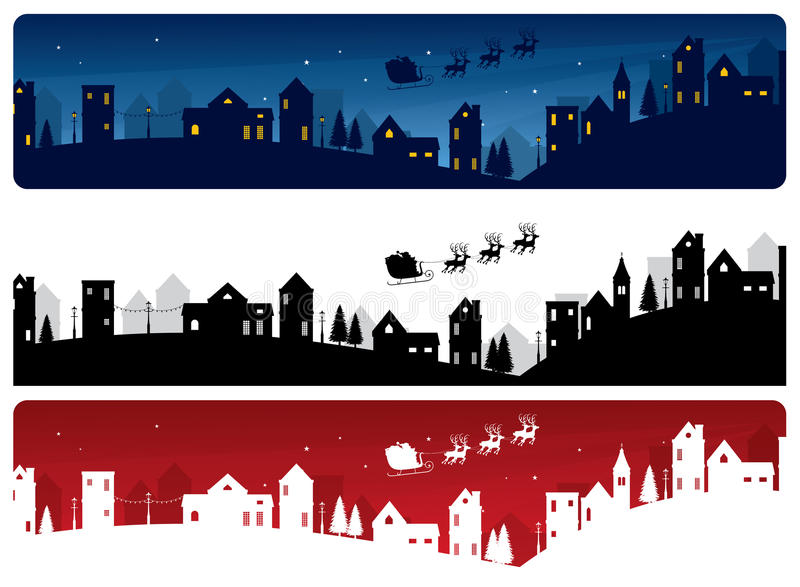 Noël Eve Banners illustration de vecteur
