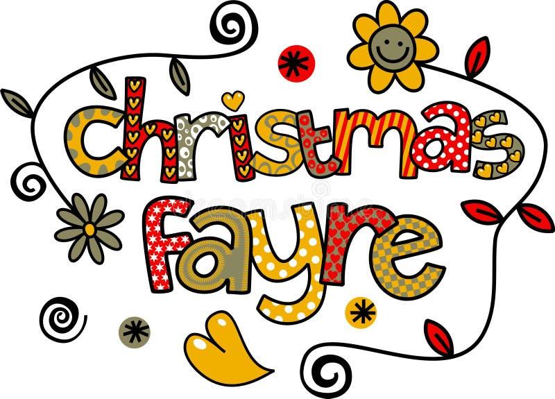 Noël Fayre illustration libre de droits