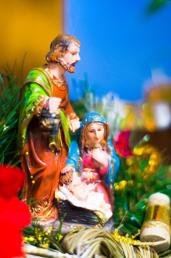 Noël figure Maria et Joseph photos stock