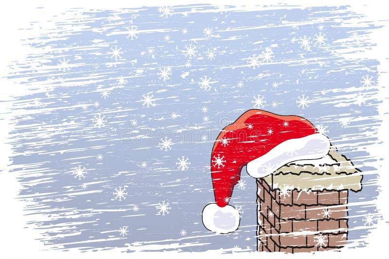 Noël heureux de tempête de neige illustration libre de droits