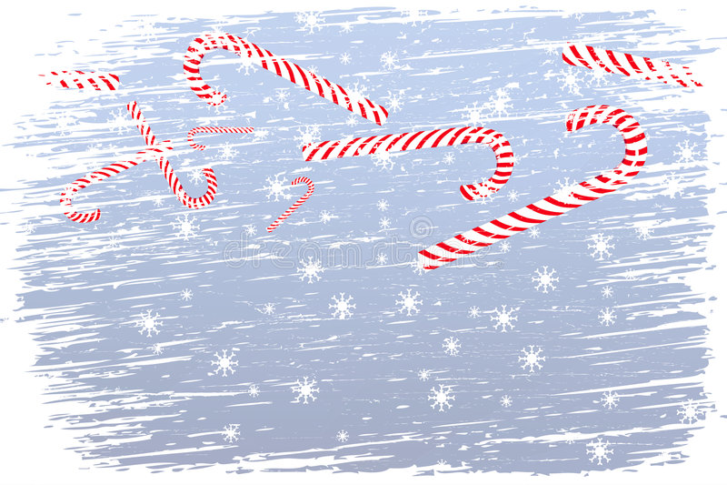Noël heureux de tempête de neige illustration stock
