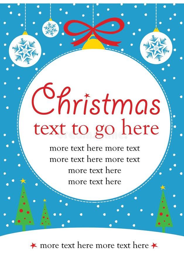 Noël invitent illustration de vecteur