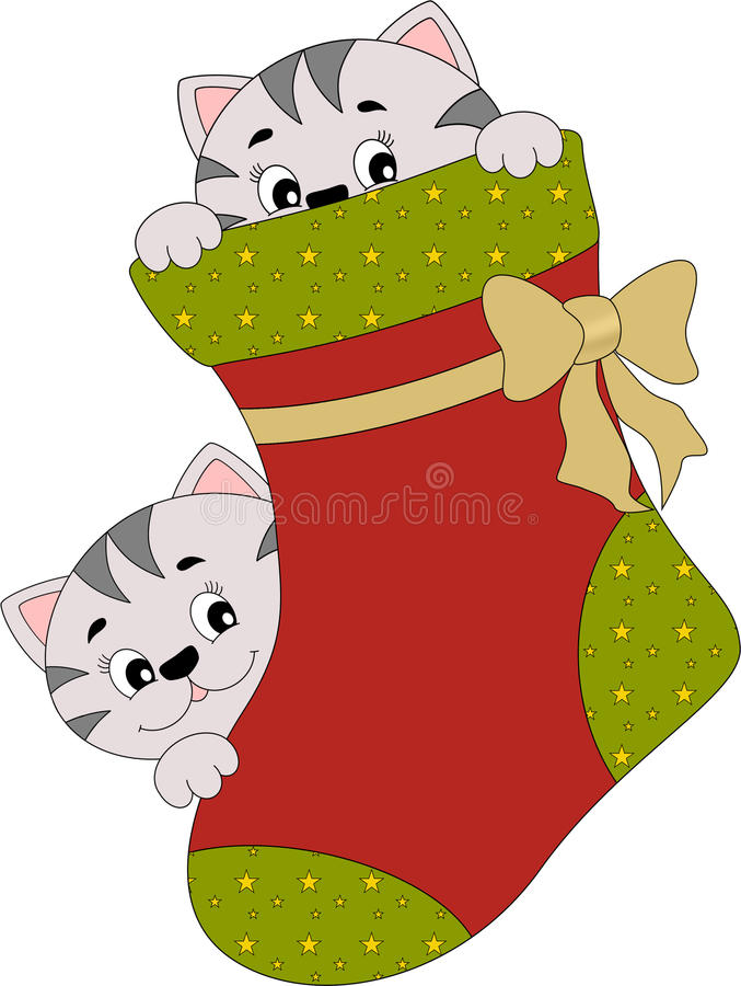 Noël jettent un coup d'oeil un huer illustration stock