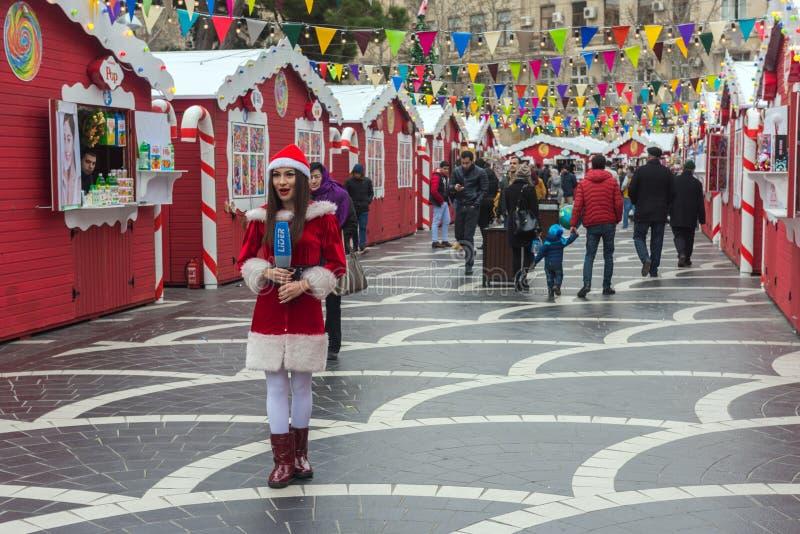 Noël juste à Bakou photos libres de droits