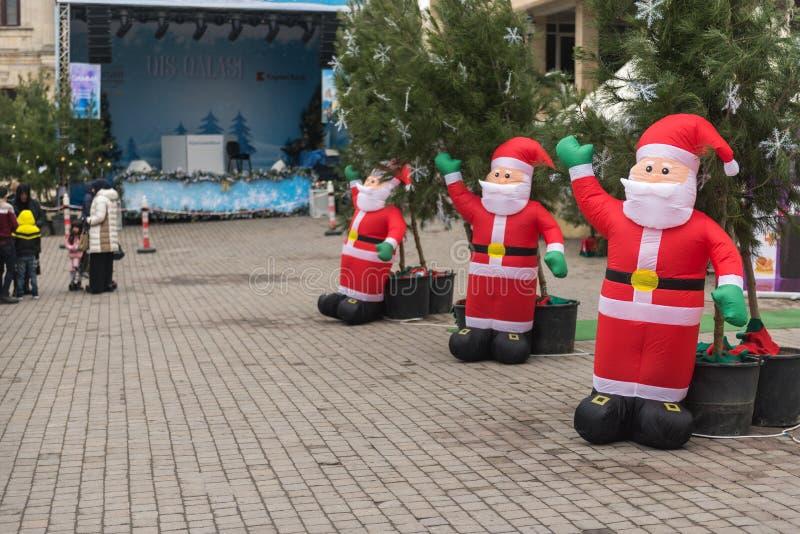 Noël juste à Bakou images libres de droits