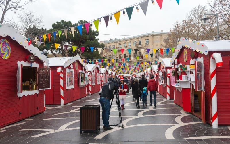 Noël juste à Bakou photo stock