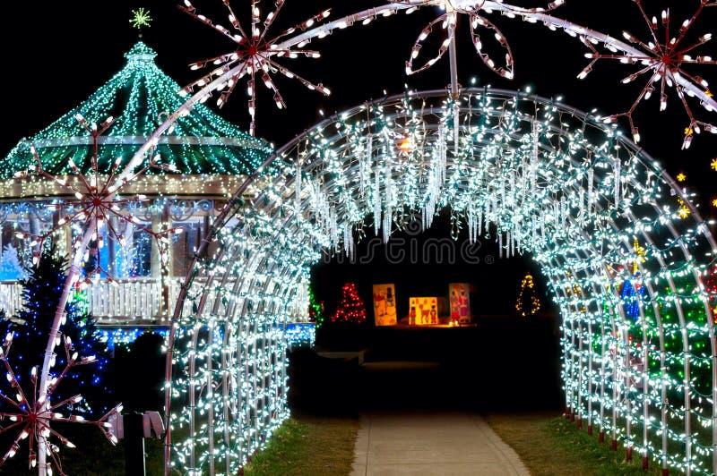 Noël léger de tunnel images libres de droits