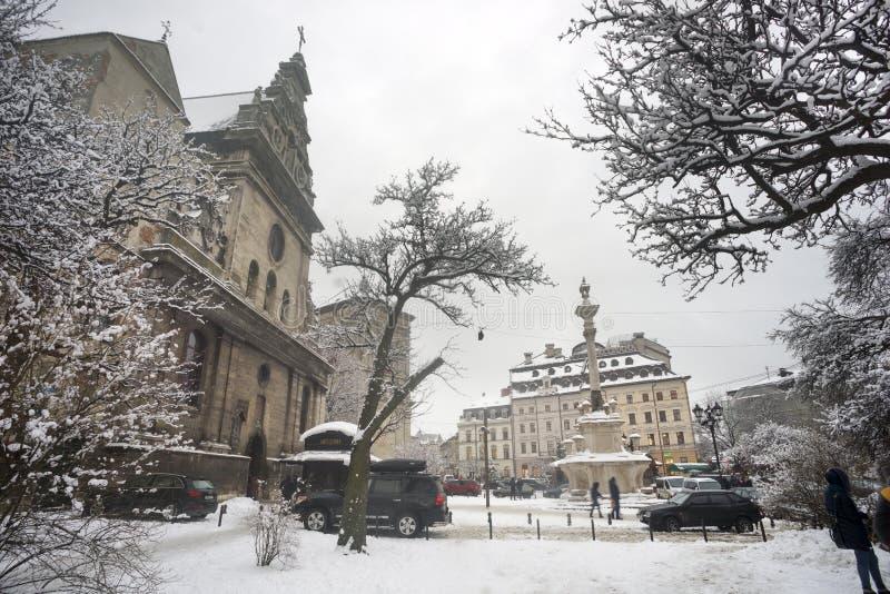 Noël Lviv de Milou photos stock
