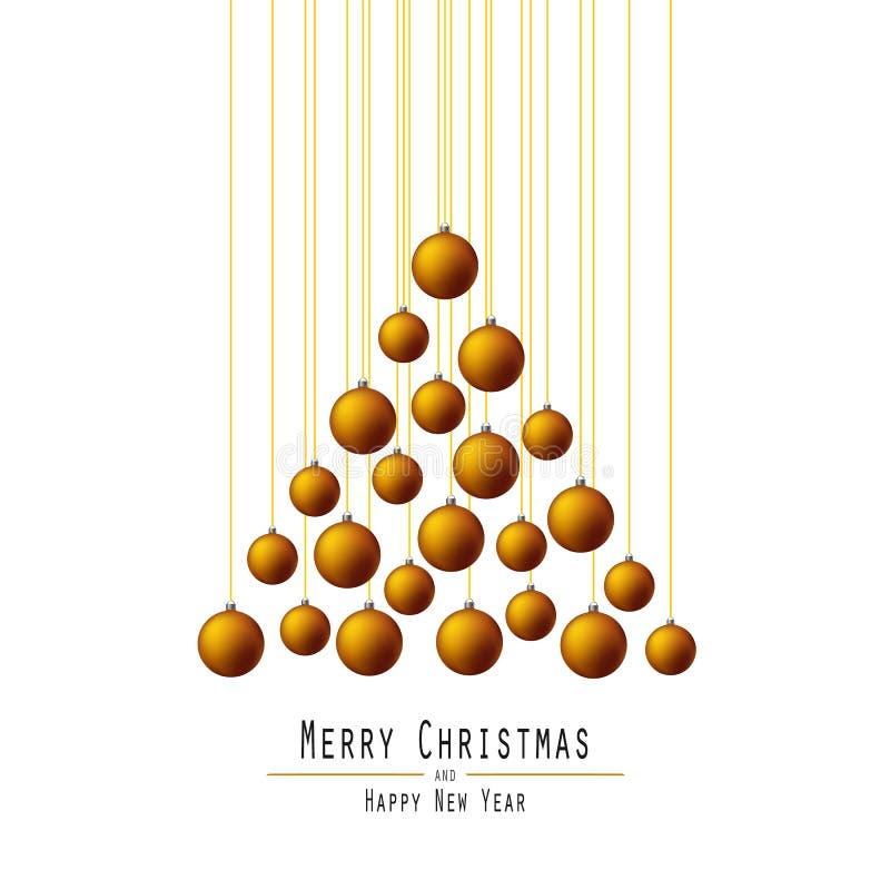 Noël ma version de vecteur d'arbre de portefeuille Boules de remise Orange photographie stock