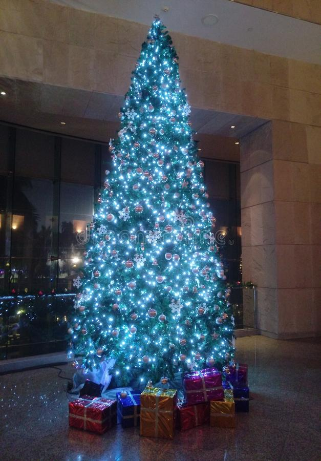 Noël ma version de vecteur d'arbre de portefeuille images libres de droits