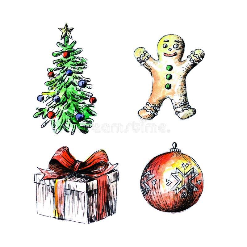 Noël ma version de vecteur d'arbre de portefeuille  Cadeau Boule de Noël  illustration libre de droits
