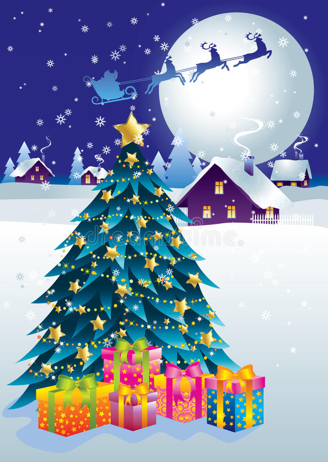 Noël magique illustration de vecteur