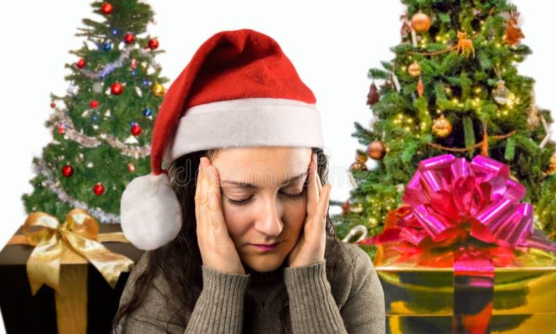 Noël me donne un mal de tête images libres de droits