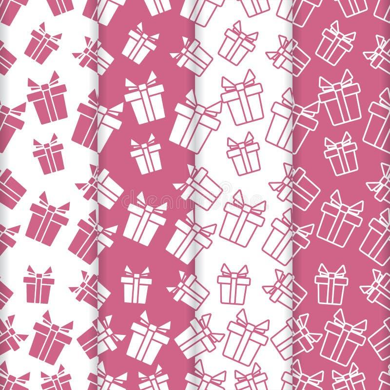 4 Noël, milieux de la nouvelle année 2019 avec des cadeaux illustration de vecteur