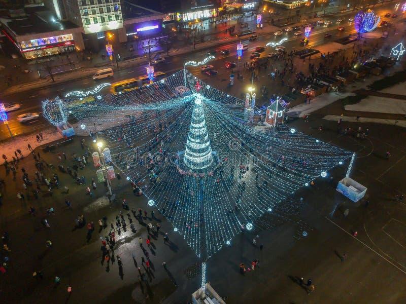 Noël Minsk, Belarus photographie stock libre de droits