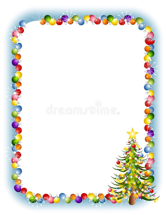 Noël ornemente le cadre 2 illustration libre de droits
