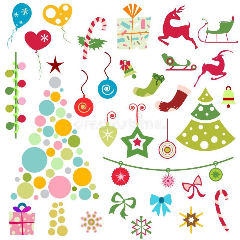 Noël ornemente le vecteur illustration stock