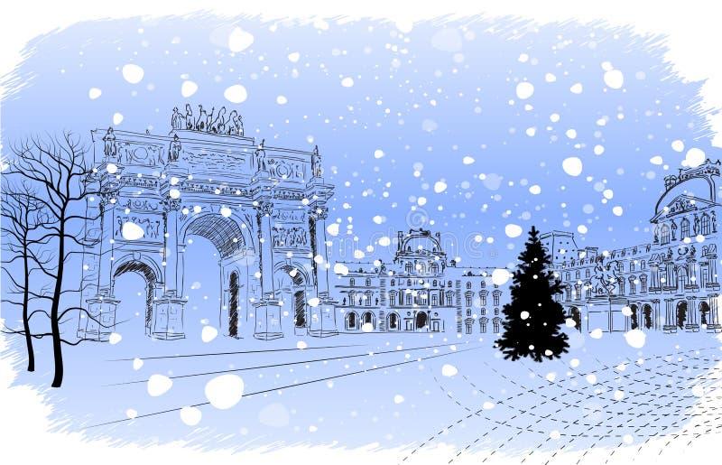 Noël Paris illustration libre de droits