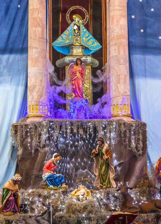Noël Parroquia Dolores Hidalgo Mexico de garderie d'autel photos stock