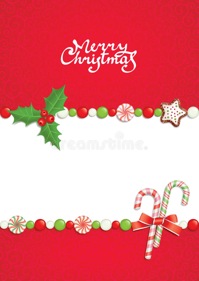 Noël postal illustration libre de droits