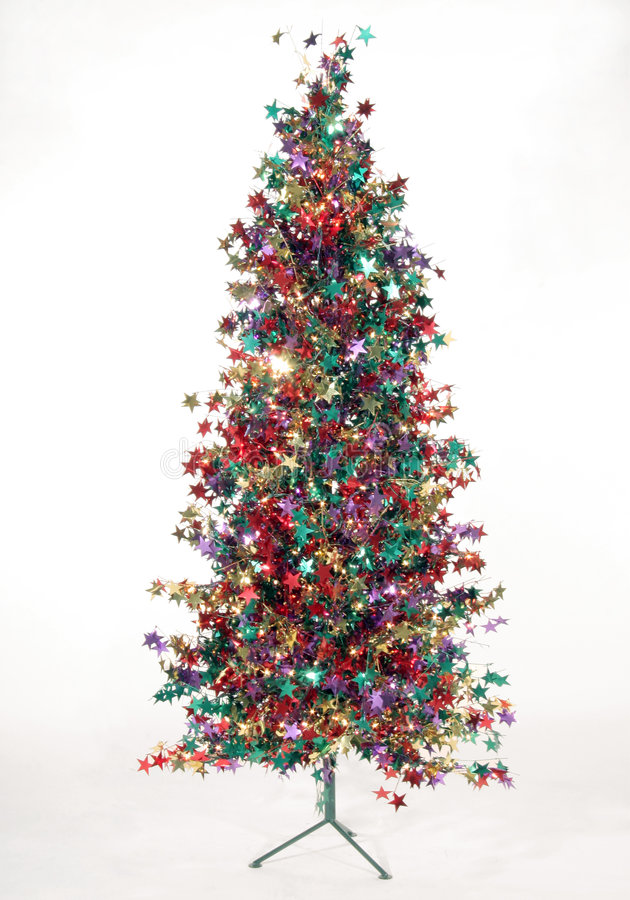 Noël stars l'arbre image libre de droits