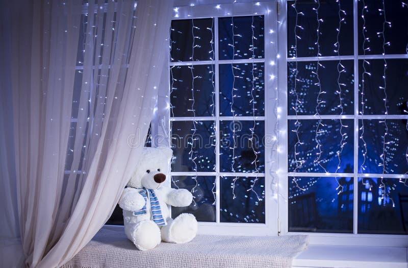 Noël Teddy Bear photos libres de droits