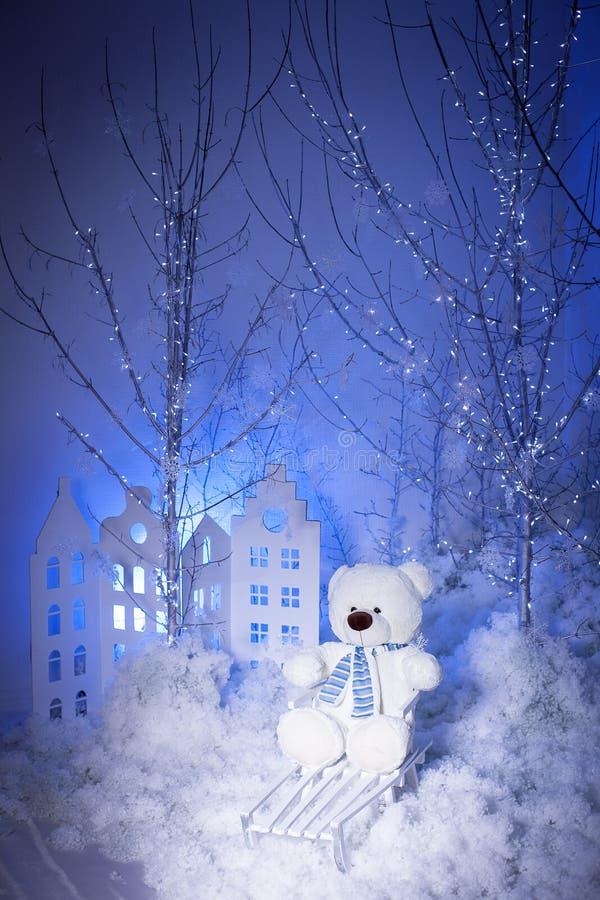 Noël Teddy Bear photographie stock libre de droits