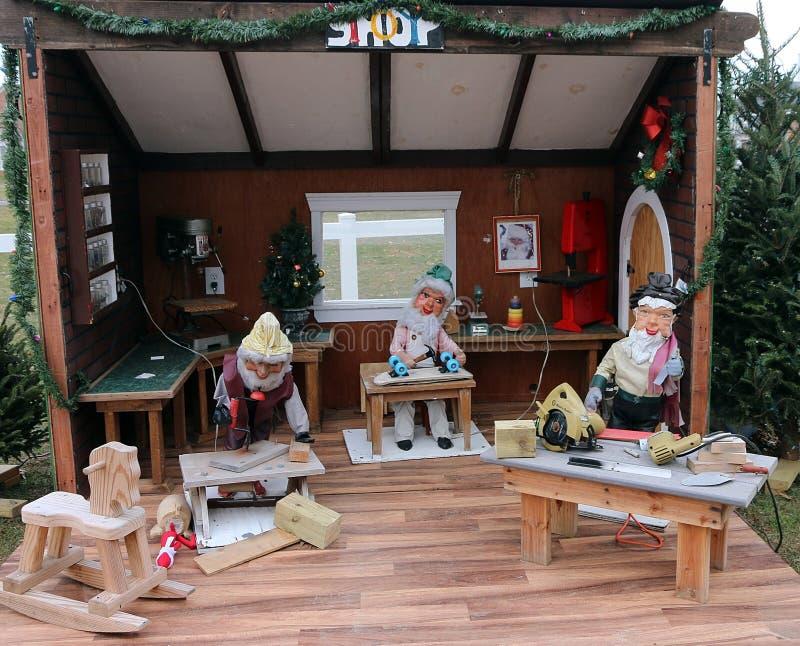Noël Toy Workshop image libre de droits