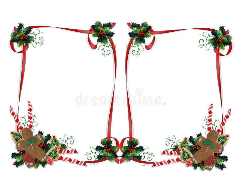 Noël traite le double de cadre illustration stock