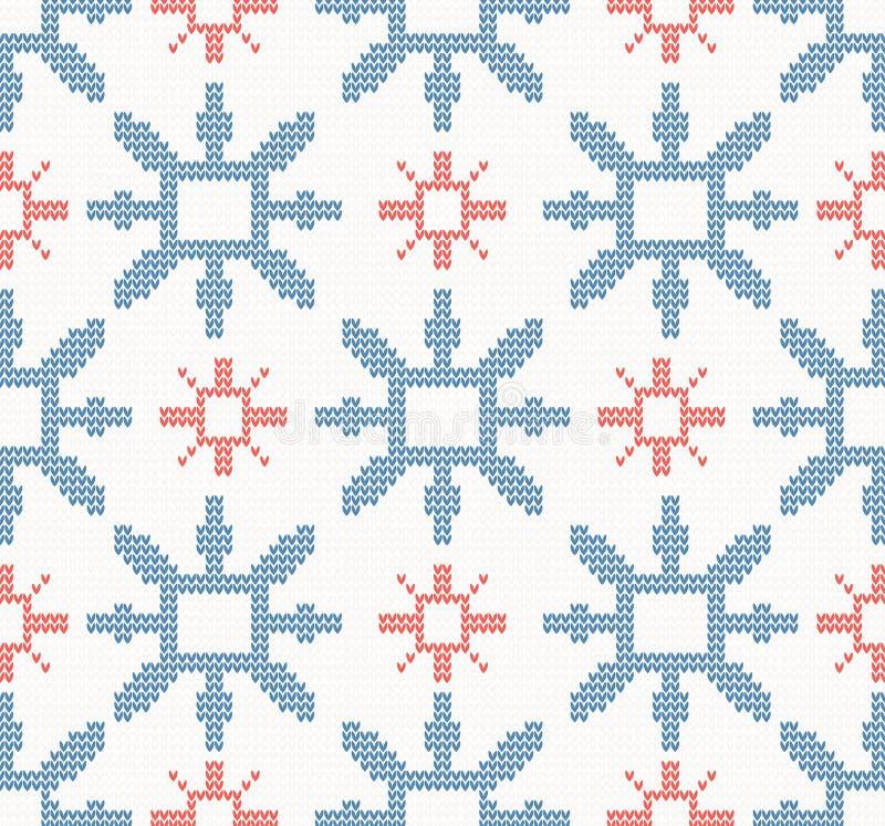 Download Noël A Tricoté Le Modèle Sans Couture Avec Les Flocons De Neige Bleus Et Rouges Illustration de Vecteur - Illustration du ethnique, dessin: 56488650