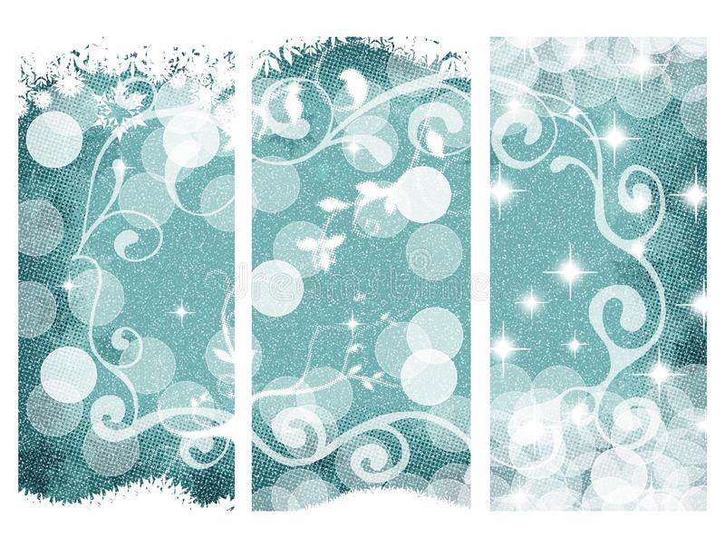 Noël trois bannières illustration stock