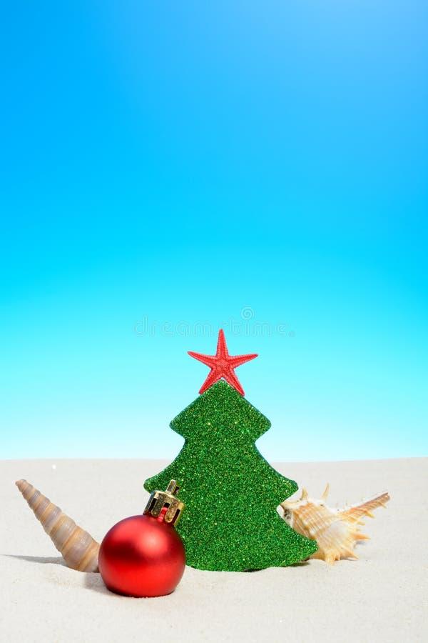 Noël tropical de plage d'été photographie stock libre de droits