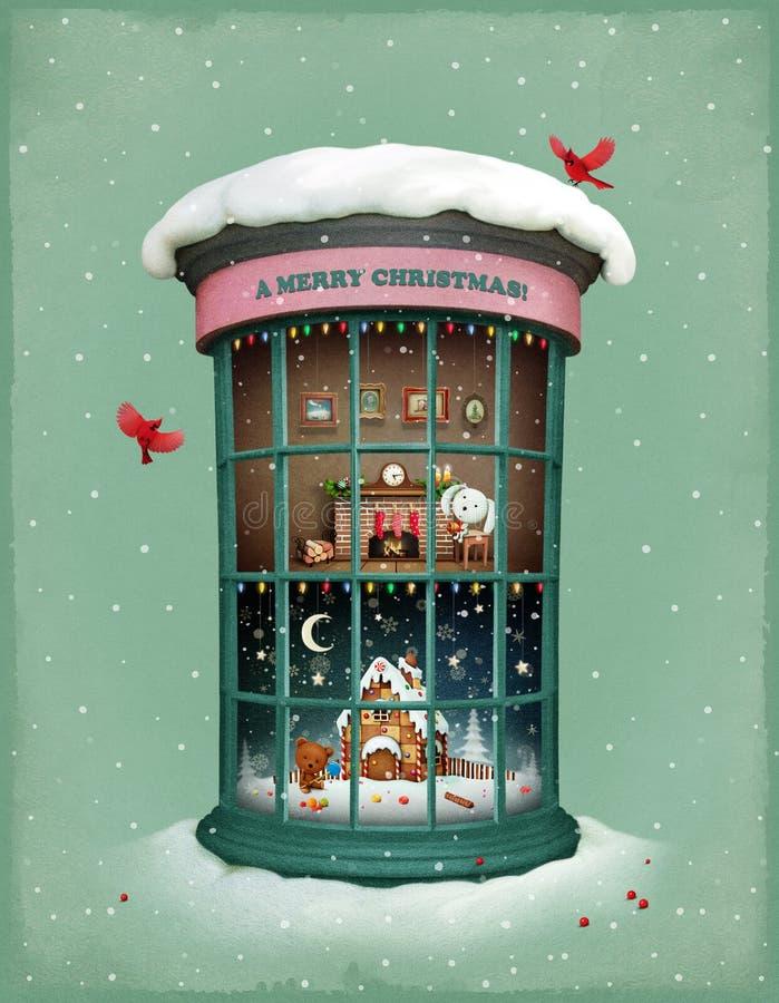 Noël Vitrina illustration libre de droits