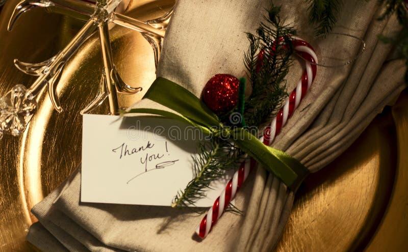 Noël vous remercient photo libre de droits
