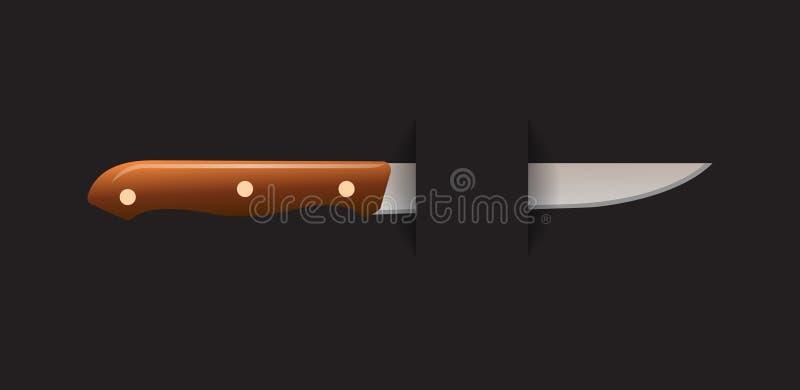 noża obrębiony oddalony royalty ilustracja