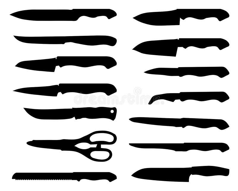Noże royalty ilustracja