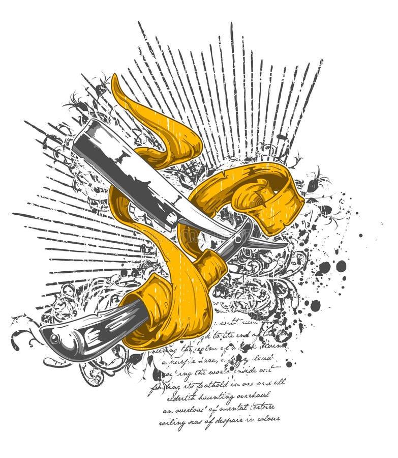 noże tasiemkowi projektów ilustracja wektor