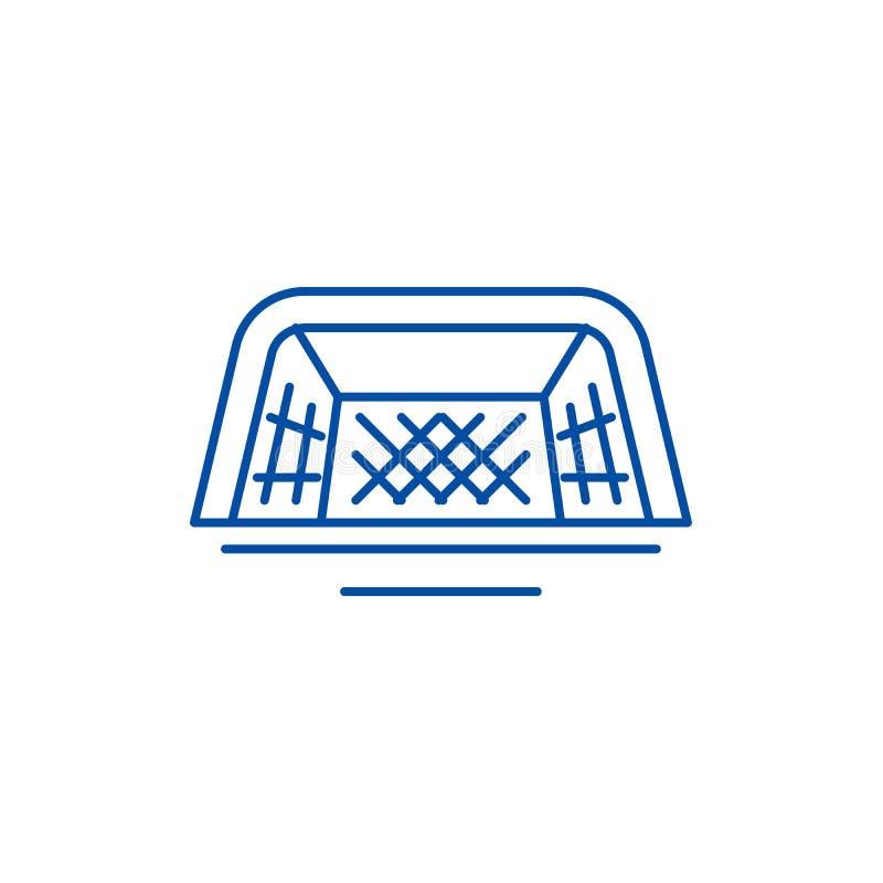 Nożnych bram ikony kreskowy pojęcie Stopa zakazuje płaskiego wektorowego symbol, znak, kontur ilustracja ilustracji